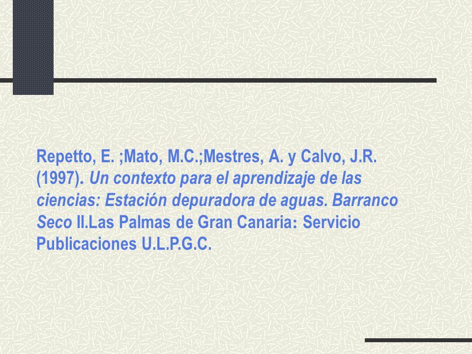 Repetto, E. ;Mato, M. C. ;Mestres, A. y Calvo, J. R. (1997)