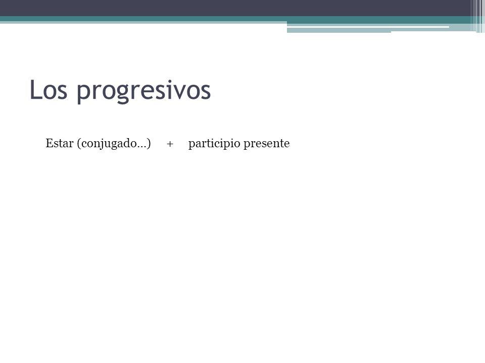 Los progresivos Estar (conjugado…) + participio presente