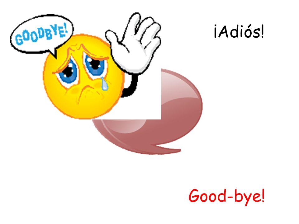 ¡Adiós! Good-bye!