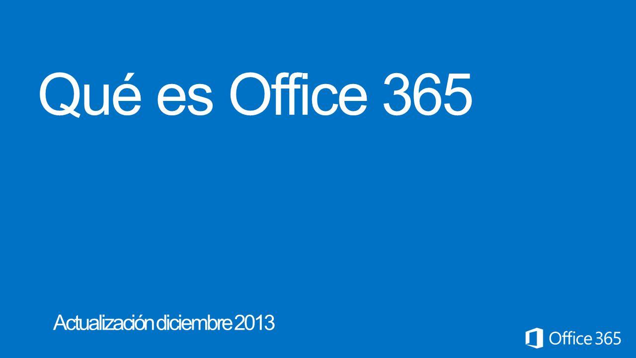 Qué es Office 365 Actualización diciembre 2013 Microsoft Office365