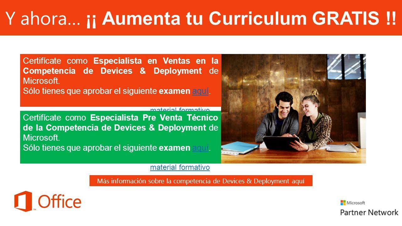 Y ahora… ¡¡ Aumenta tu Curriculum GRATIS !!