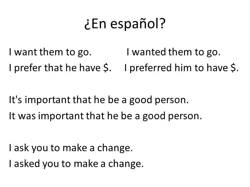 ¿En español