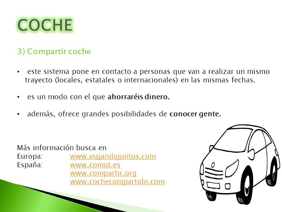 COCHE 3) Compartir coche