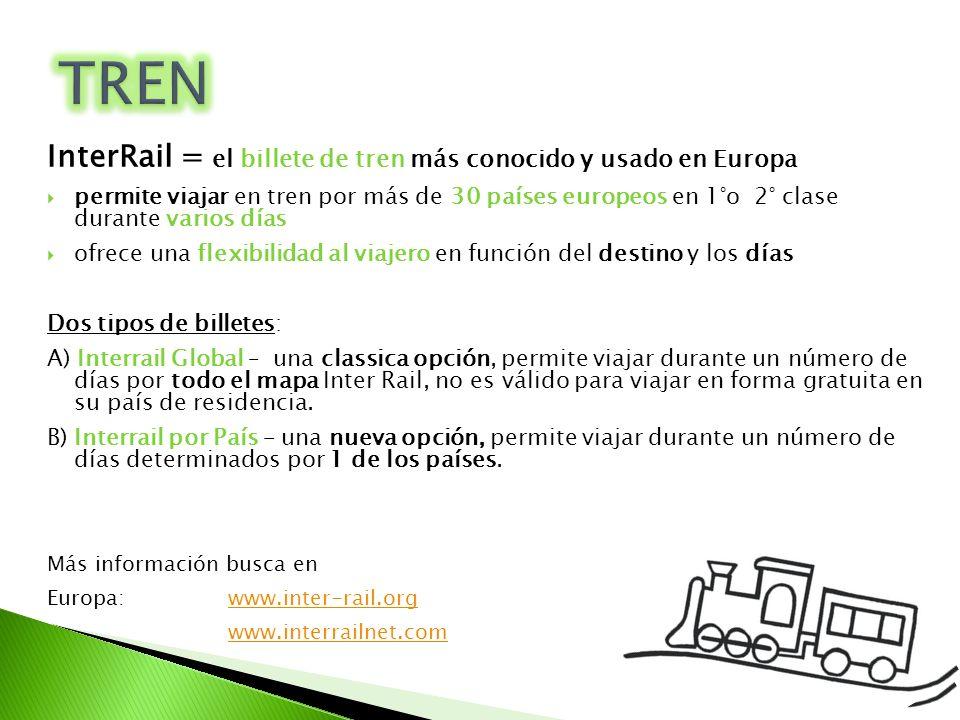 TREN InterRail = el billete de tren más conocido y usado en Europa