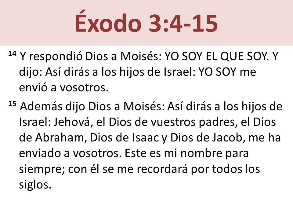 Éxodo 3:4-15