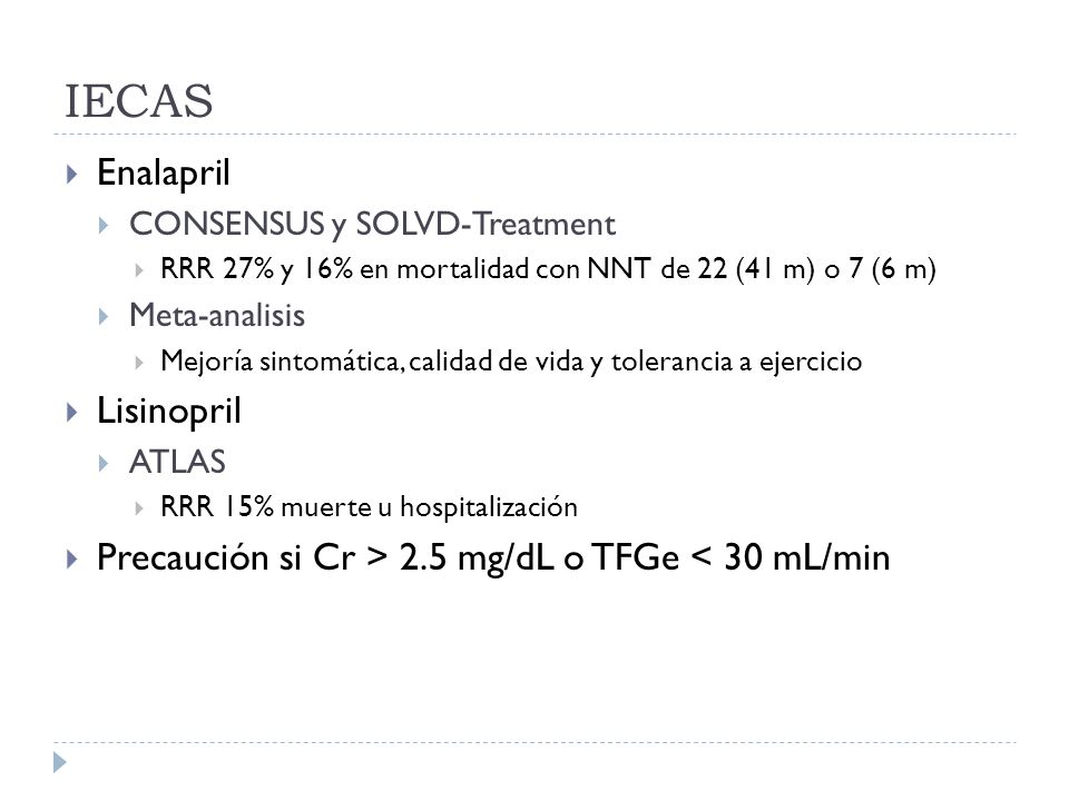 IECAS Enalapril Lisinopril