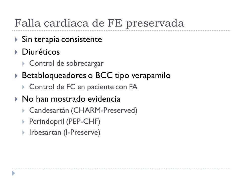 Falla cardiaca de FE preservada