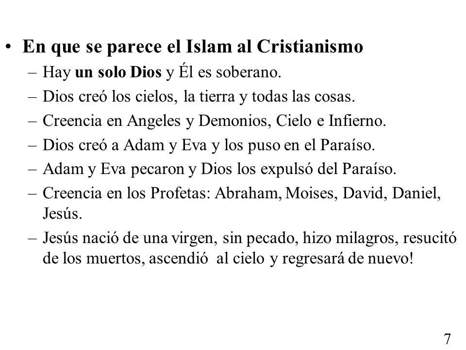 En que se parece el Islam al Cristianismo