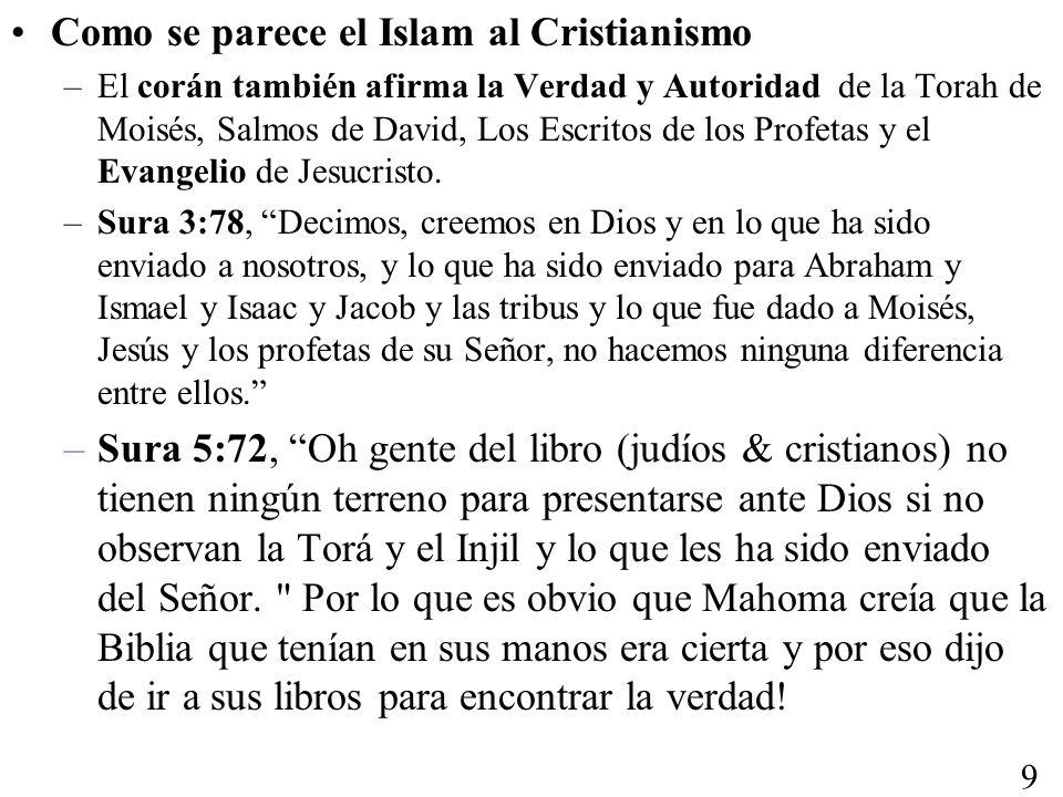 Como se parece el Islam al Cristianismo
