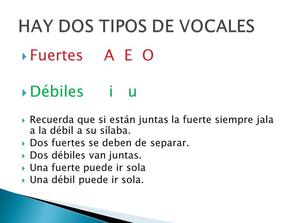 HAY DOS TIPOS DE VOCALES