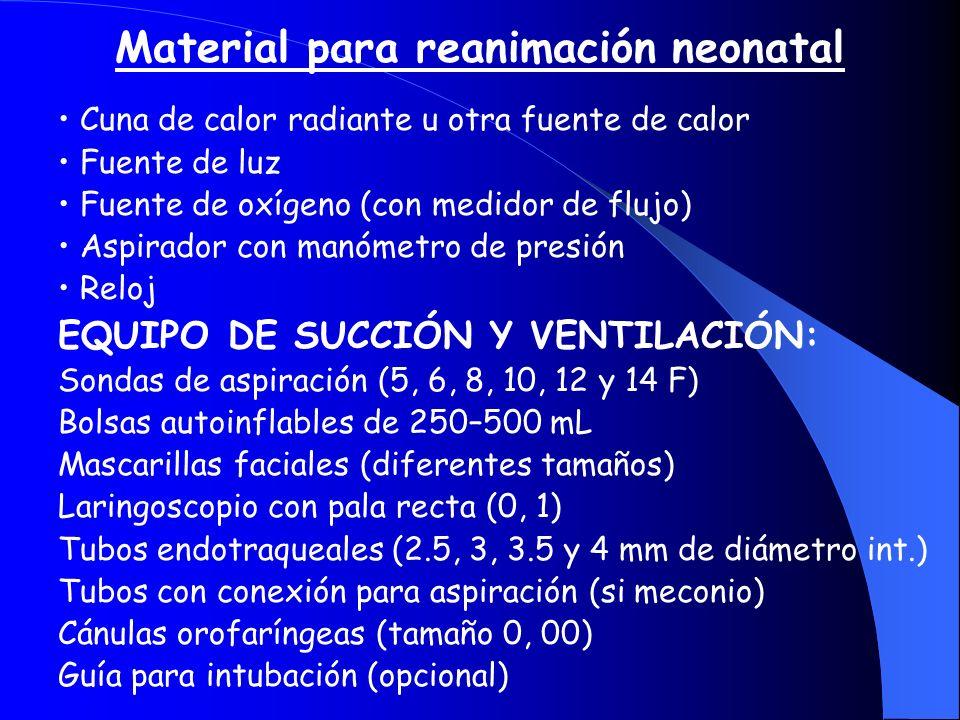 Material para reanimación neonatal