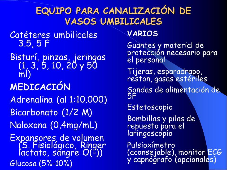 EQUIPO PARA CANALIZACIÓN DE VASOS UMBILICALES