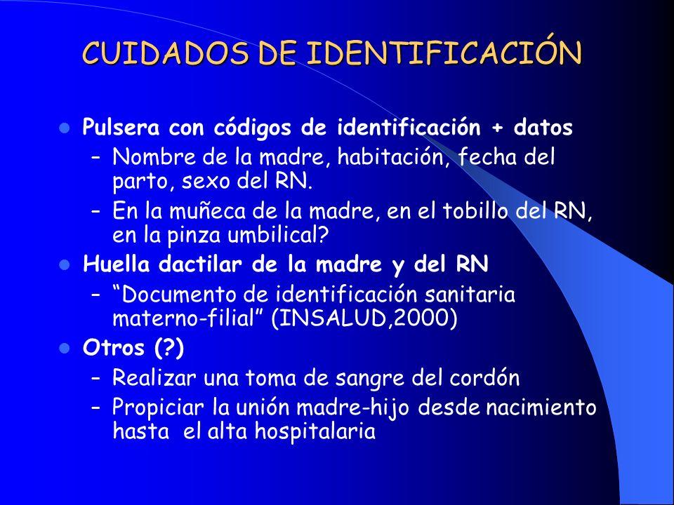 CUIDADOS DE IDENTIFICACIÓN