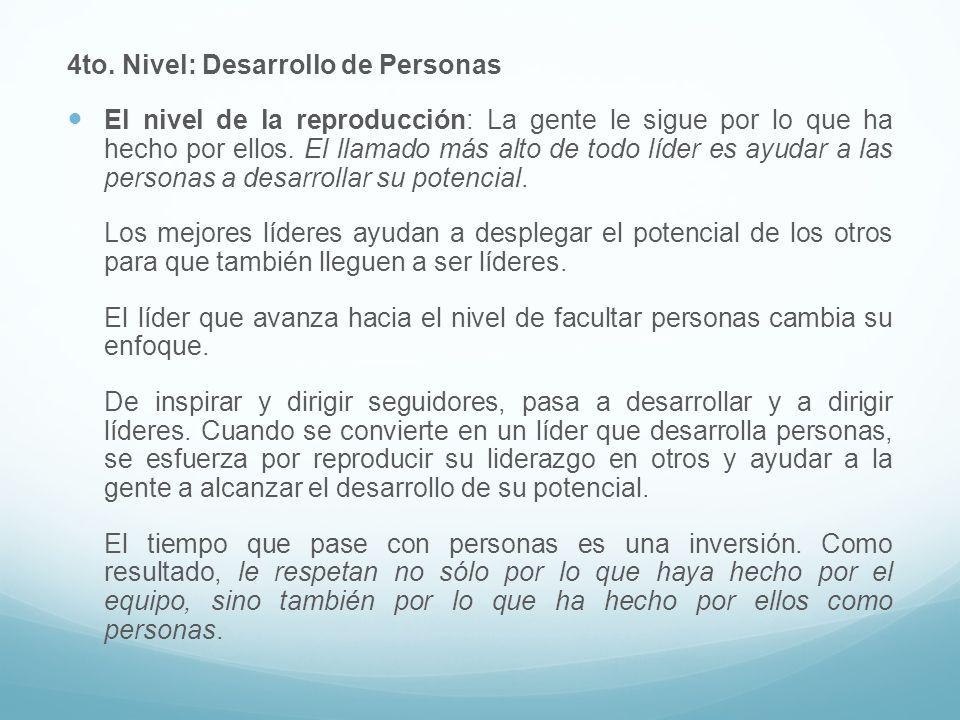 4to. Nivel: Desarrollo de Personas
