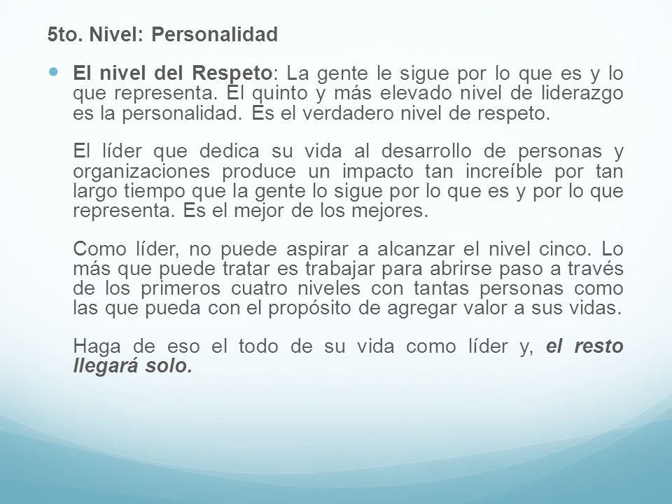 5to. Nivel: Personalidad