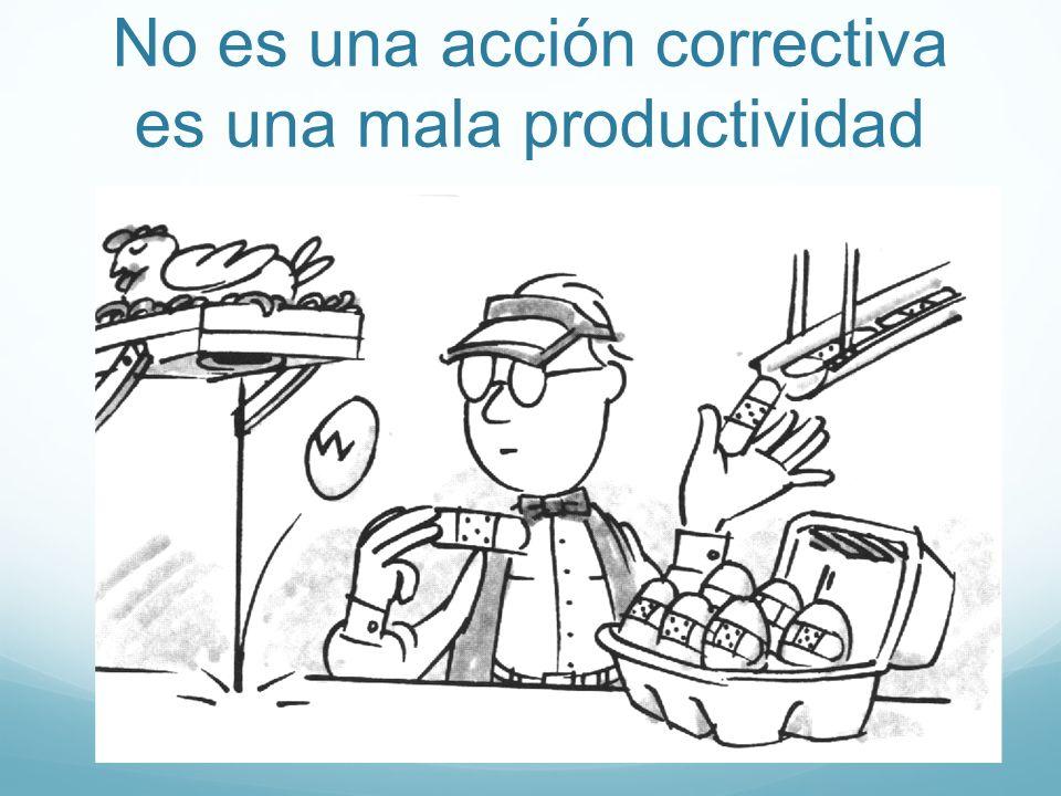 No es una acción correctiva es una mala productividad