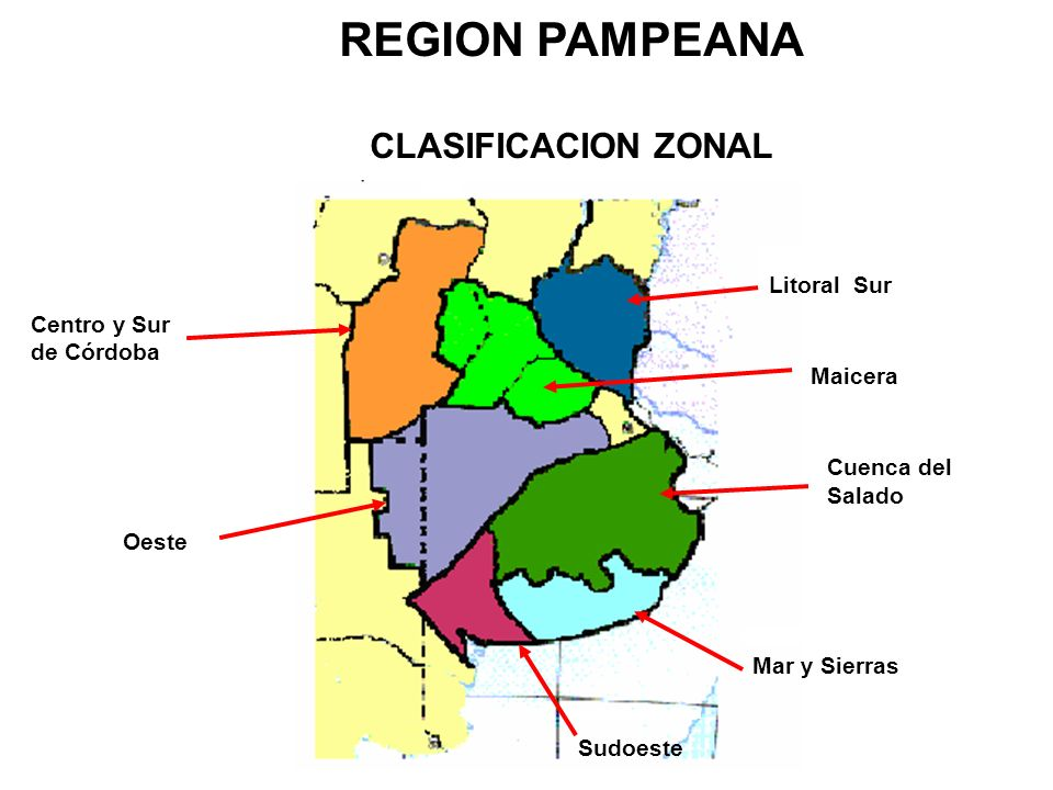 REGION PAMPEANA CLASIFICACION ZONAL Litoral Sur