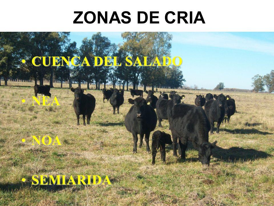 ZONAS DE CRIA CUENCA DEL SALADO NEA NOA SEMIARIDA