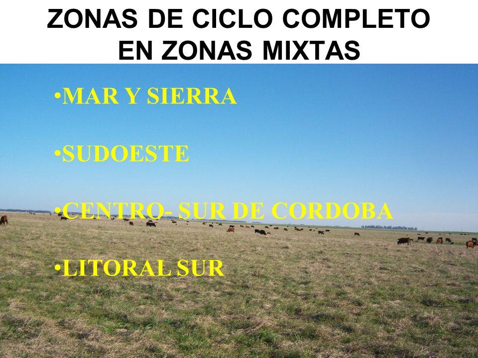 ZONAS DE CICLO COMPLETO EN ZONAS MIXTAS