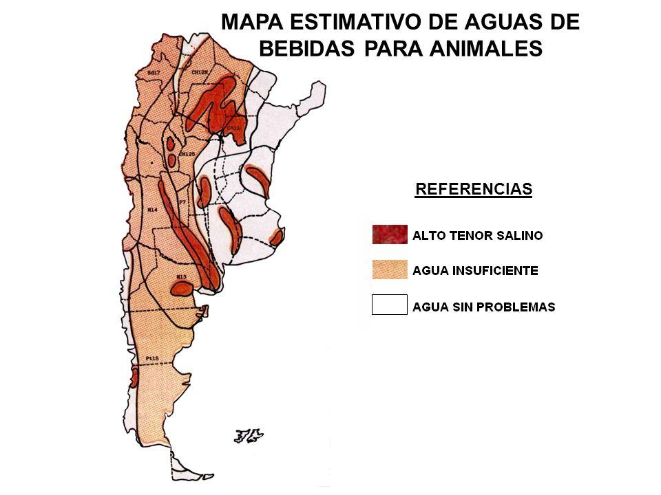 MAPA ESTIMATIVO DE AGUAS DE BEBIDAS PARA ANIMALES
