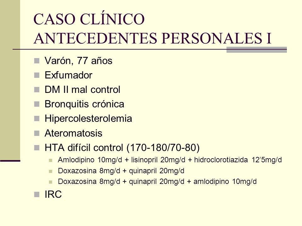 CASO CLÍNICO ANTECEDENTES PERSONALES I