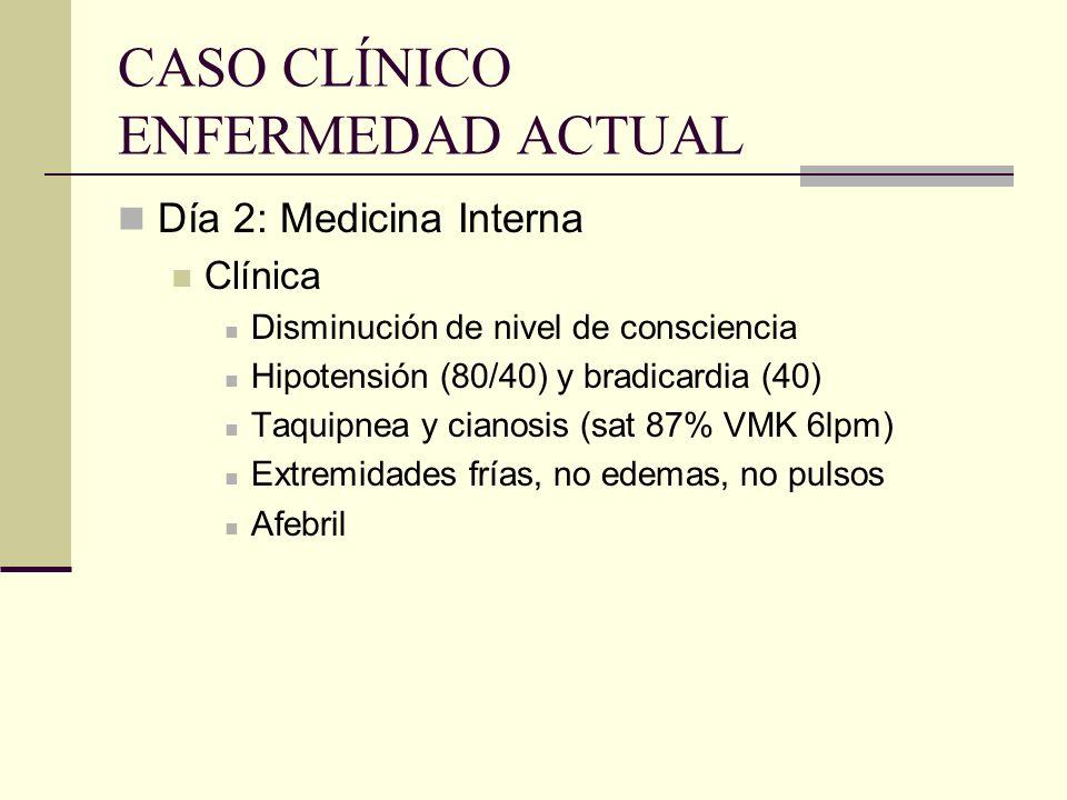 CASO CLÍNICO ENFERMEDAD ACTUAL
