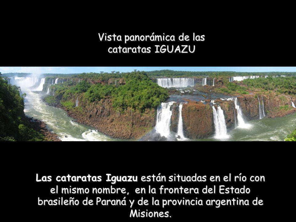 Vista panorámica de las cataratas IGUAZU