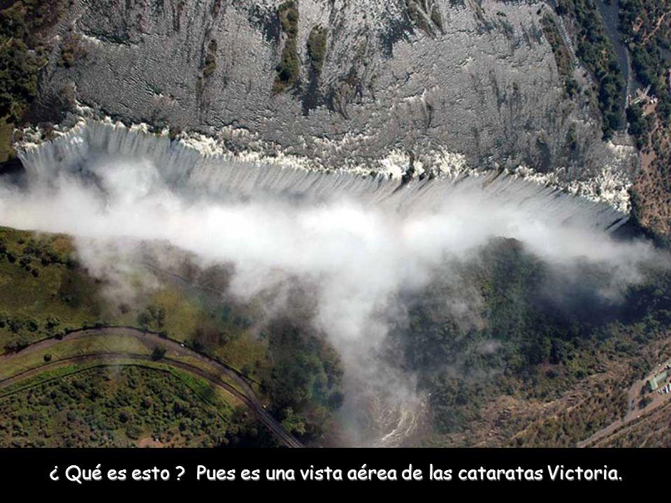 ¿ Qué es esto Pues es una vista aérea de las cataratas Victoria.