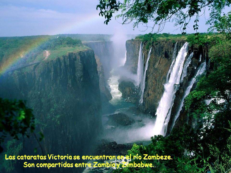 Las cataratas Victoria se encuentran en el río Zambeze