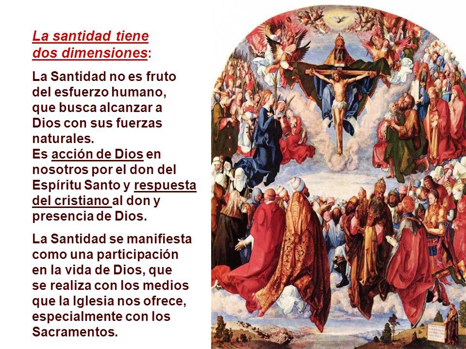 La santidad tiene dos dimensiones: La Santidad no es fruto