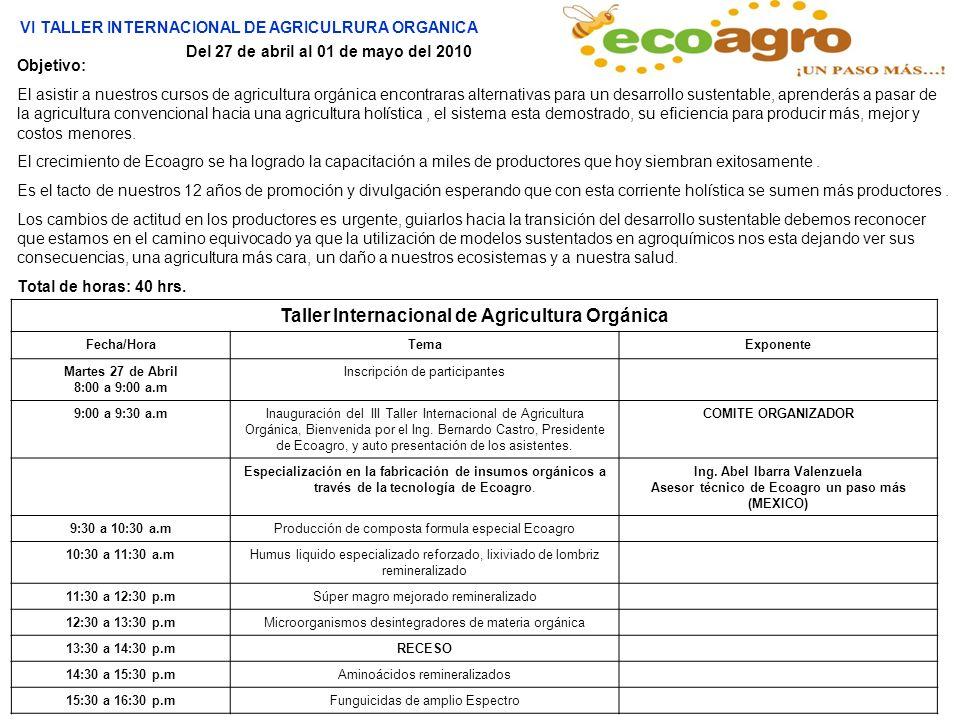 Taller Internacional de Agricultura Orgánica