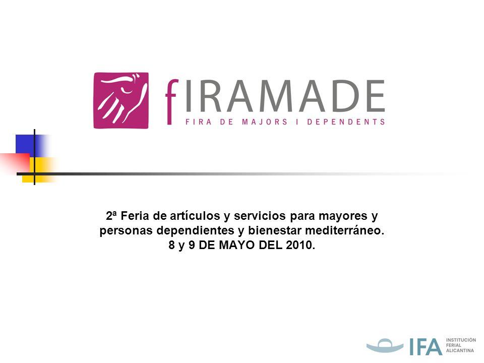 2ª Feria de artículos y servicios para mayores y personas dependientes y bienestar mediterráneo.