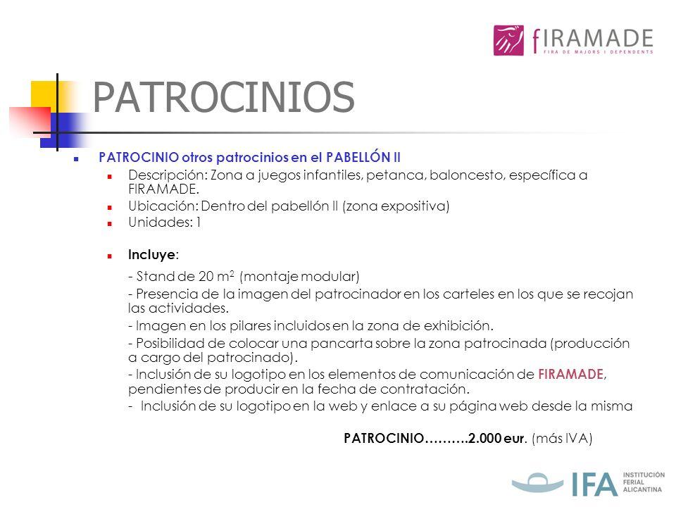 PATROCINIOS PATROCINIO……….2.000 eur. (más IVA)