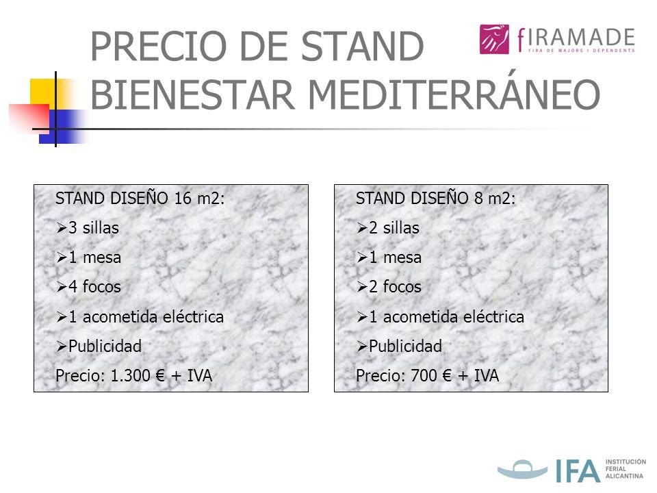 PRECIO DE STAND BIENESTAR MEDITERRÁNEO
