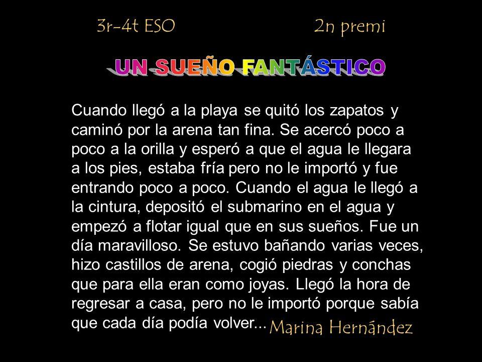 UN SUEÑO FANTÁSTICO 3r-4t ESO 2n premi Marina Hernández