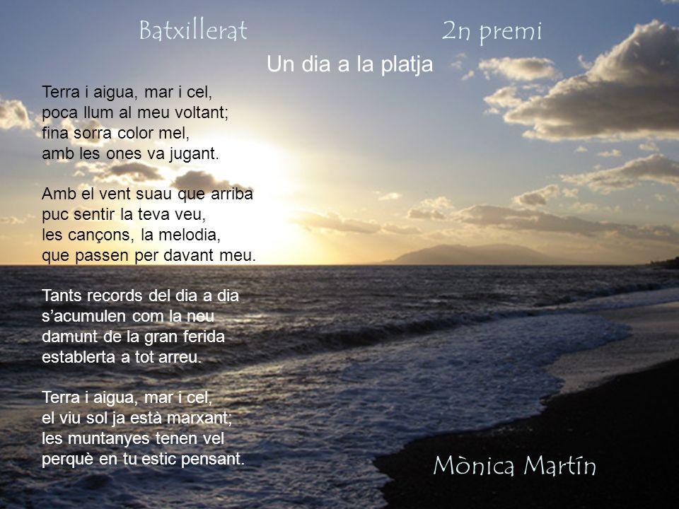 Batxillerat 2n premi Mònica Martín Un dia a la platja