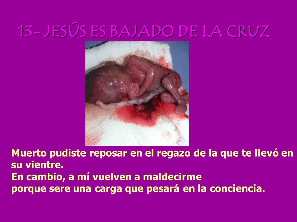 13- JESÚS ES BAJADO DE LA CRUZ