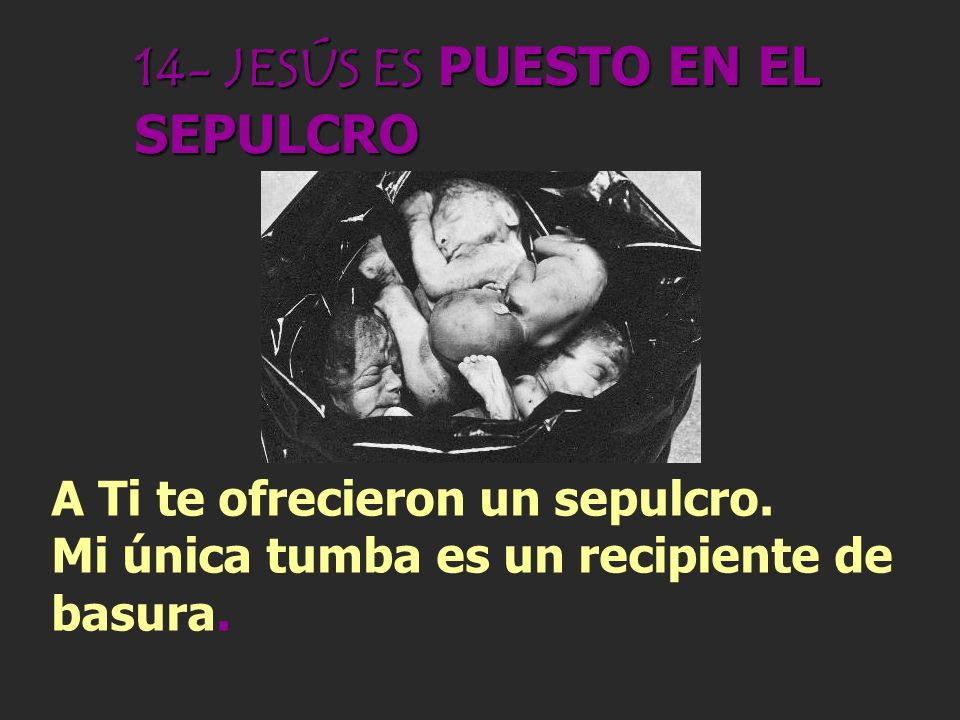 14- JESÚS ES PUESTO EN EL SEPULCRO