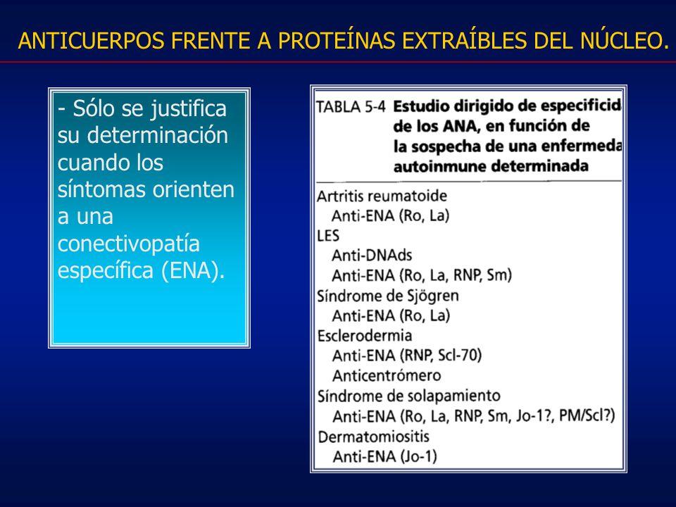 ANTICUERPOS FRENTE A PROTEÍNAS EXTRAÍBLES DEL NÚCLEO.