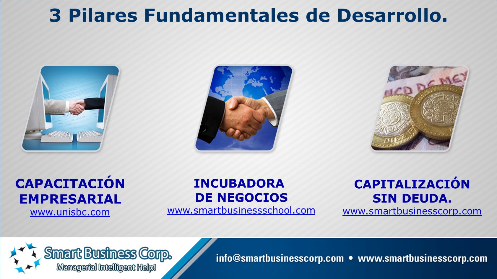3 Pilares Fundamentales de Desarrollo.