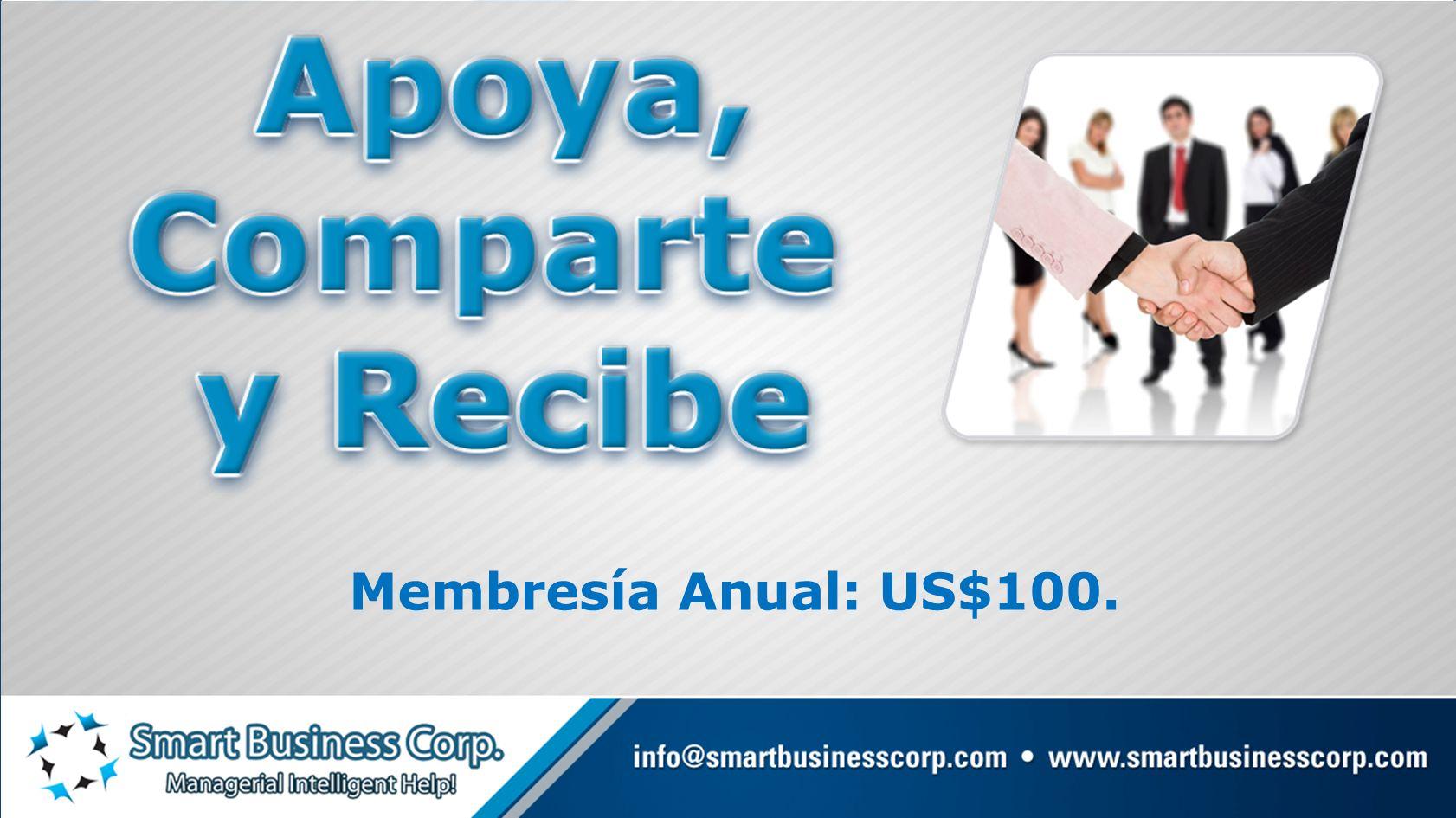 Membresía Anual: US$100.