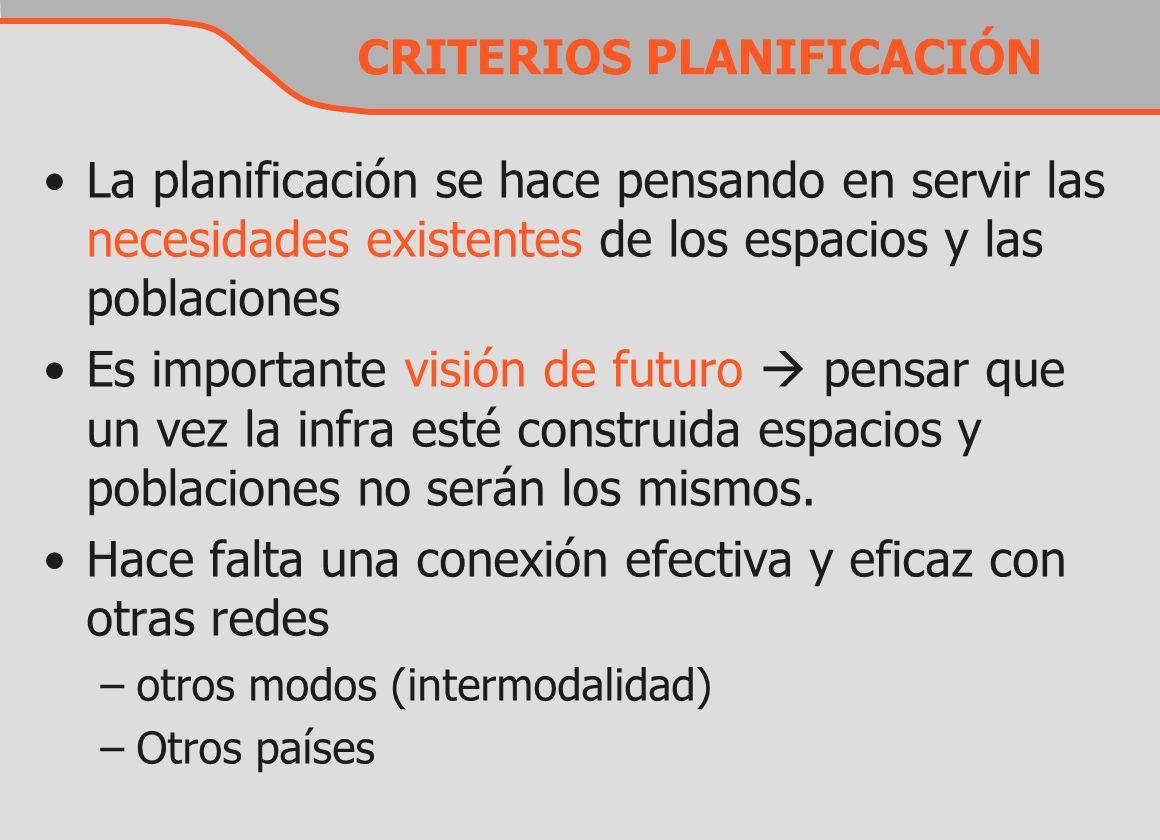 CRITERIOS PLANIFICACIÓN