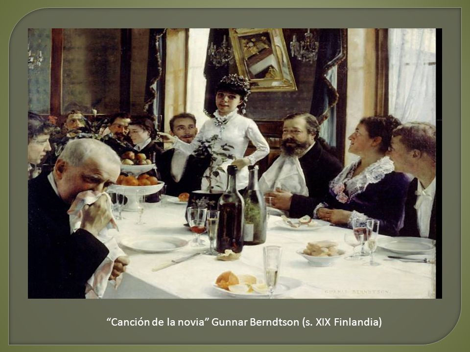 Canción de la novia Gunnar Berndtson (s. XIX Finlandia)