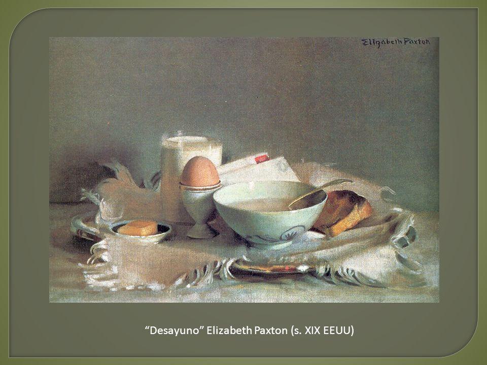 Desayuno Elizabeth Paxton (s. XIX EEUU)