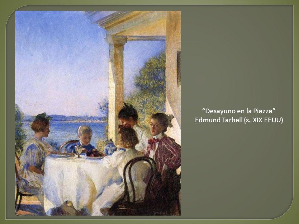 Desayuno en la Piazza Edmund Tarbell (s. XIX EEUU)