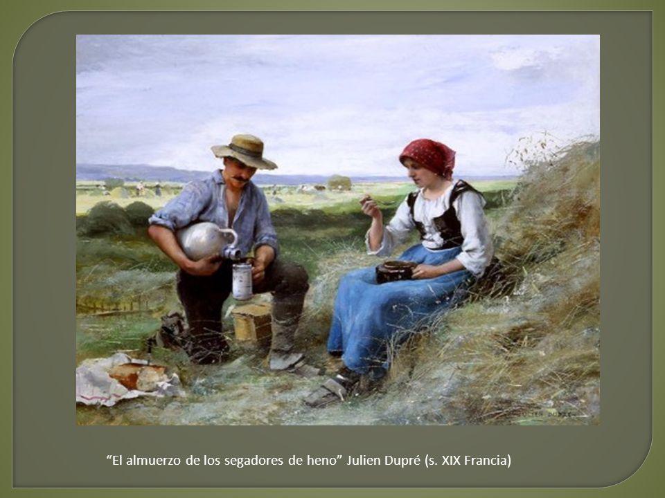 El almuerzo de los segadores de heno Julien Dupré (s. XIX Francia)