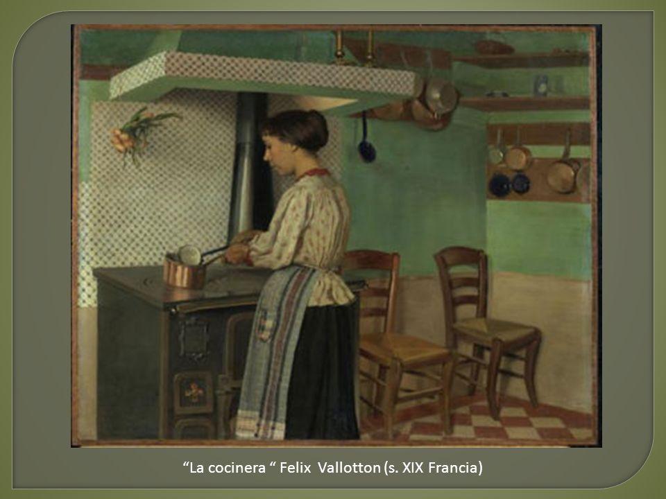 La cocinera Felix Vallotton (s. XIX Francia)