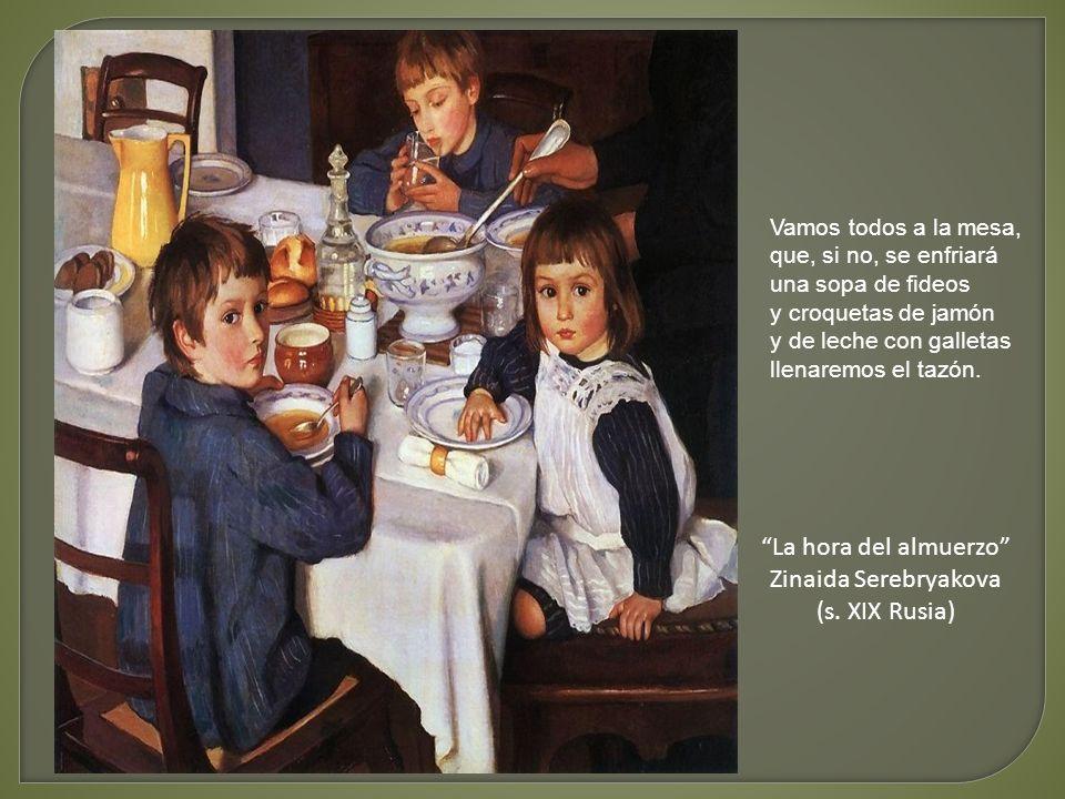 La hora del almuerzo Zinaida Serebryakova (s. XIX Rusia)
