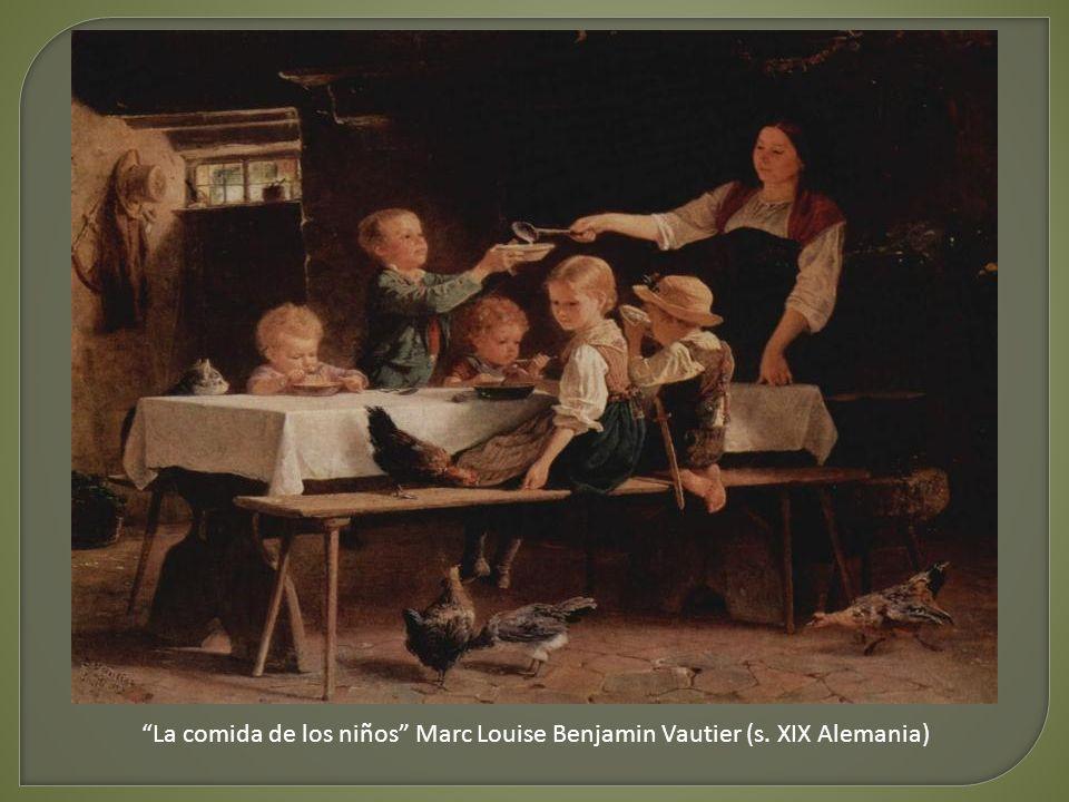 La comida de los niños Marc Louise Benjamin Vautier (s. XIX Alemania)