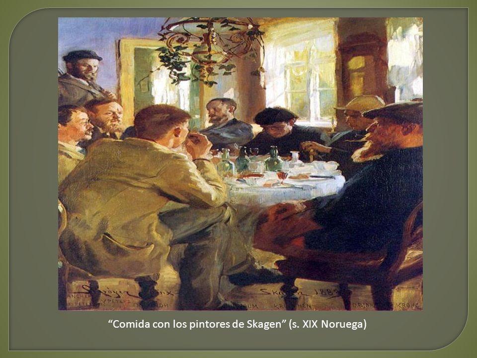 Comida con los pintores de Skagen (s. XIX Noruega)